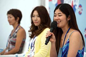Музыканты Tachibana Quintet Марта Като, Нун и Юка Тадано