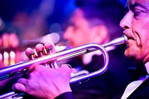 Музыканты биг-бэнда Георгия Гараняна выступают с программой Tribute to Benny Goodman